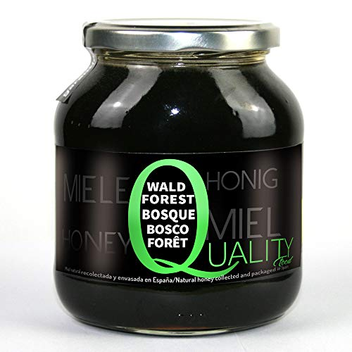 Miel pura de abeja 100{d5c4b38c2176273e7294a66efccb77ef343d8e441244bb5ee27d19034285b565}. Miel cruda de Bosque. 1 Kg. Producida en España. Sin pasteurizar ni calentar. Artesana de alta calidad. Tarro de cristal. Gran variedad de exquisitos sabores.