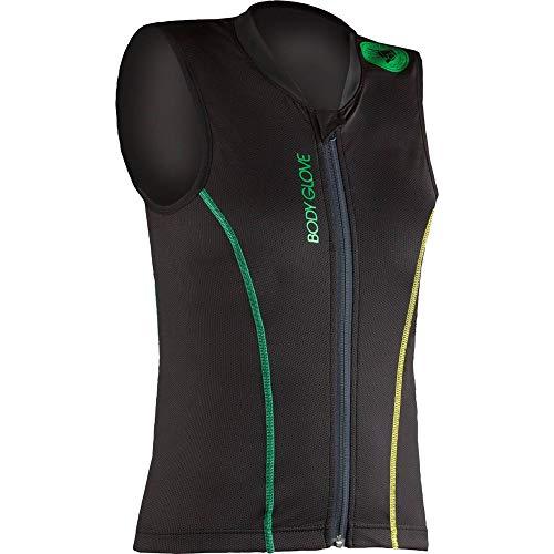 Body Glove Kinder Lite Pro Rückenprotector, Black/Green/Yellow, 152