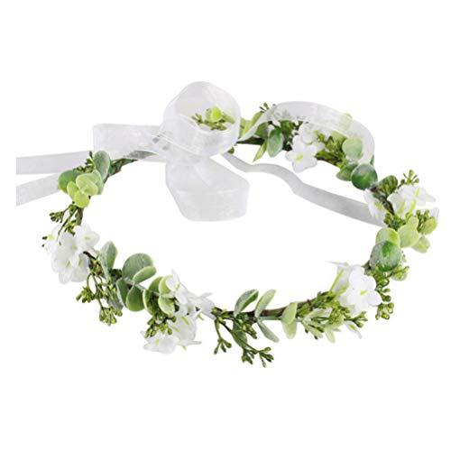 Minkissy bloemenkroon hoofdband elegante kunstbloemen bladeren krans haar banden slingers hoofddeksel voor vakantie bruiloft zee