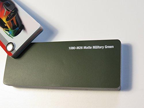 3M Scotchprint Wrap Film Series 1080 Matt Militär Grün gegossene Autofolie 100 x 152 cm Zuschnitt