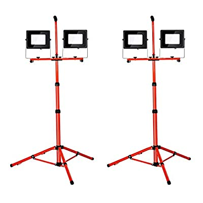 LED Work Light with Tripod Stand 10000LM 5000K 2pack