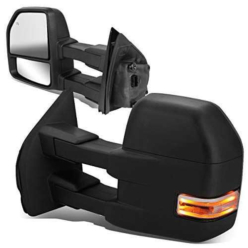 DNA Motoring TWM-058-T888-BK-CL Powered+Heated w/LED Turn Signal+Puddle Light...