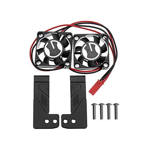 HELEISH SEC ingesta ventilador de refrigeración de aire de simulación Grille Kit for 1/10 TRX4 RC Piezas de coches Piezas de montaje de bricolaje (Color : Black)