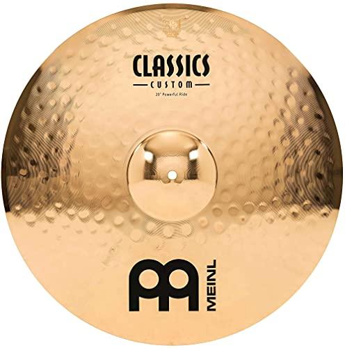 Meinl Classics Custom Brilliant 20 Zoll (50,80cm) Powerful Ride Becken für Schlagzeug – B10 Bronze, brilliantes Finish (CC20PR-B)