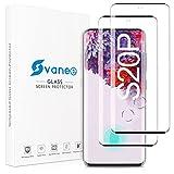Svanee Protector de Pantalla para Samsung Galaxy S20 Plus / S20+, [2 Piezas][ Cobertura completa 3D, Dureza 9H, Sin Burbujas, Soporte para identificación de huellas dactilares]