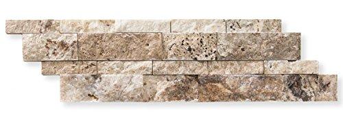 Philadelphia Travertine 6 X 20 Stacked Ledger Wall Panel Tile, Split-Faced (Small Sample Piece)
