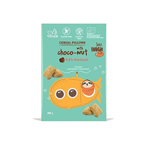 Almohadas de cereales con nuez Crema BIO 200 g Super Fudgio