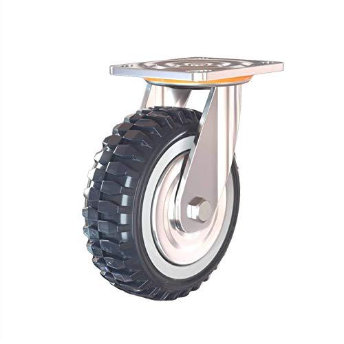 Moviendo ruedas de ruedas para muebles para ruedas de ruedas de muebles ruedas de trolley 8 pulgadas de rueda universal a prueba de polvo poliuretano desplazadoras plana carretilla polea llantas pesad