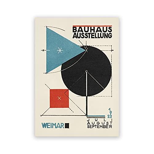 Impresión de arte abstracto Bauhaus, cartel minimalista mod