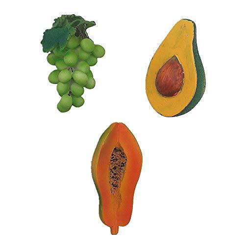 Papaya Avocado Grape 3D Koelkast Magneet Thuis Keuken Decoratie Handgemaakte hars Food Series Fruit Koelkast Magneet