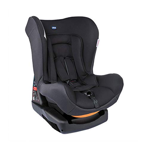 Chicco Cosmos Silla de Coche Reclinable para Bebés de 0-18 kg, Grupo 0+/1 para Niños de 0-4 años, Fácil de Instalar, Cojín Reductor para Bebés, Acolchado Suave - Negro (Jet Black)