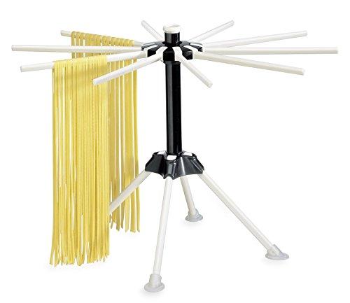 Küchenprofi Nudeltrockner PASTACASA Zubehör für Nudelmaschine, Kunststoff, Weiss-schwarz, 9 x 9 x 22 cm, 6-Einheiten