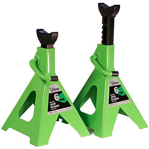 AFF 55060 Viking 6 Ton Ratcheting Style Jack Stand Set, 6 Ton Capacity