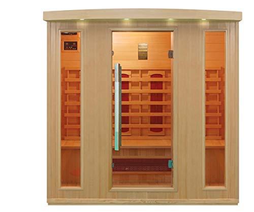 XXL Luxus LED Infrarotsauna Infrarotkabine-Wärmekabine Sauna +Radio USB MP3.