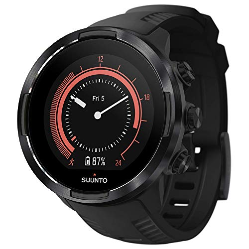 Suunto 9 Baro GPS Sports Watch with Long Battery Life and Wrist-Based Heart Rate, Black