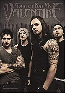 Heart Rock Bullet for My Valentine Poster Flag Band Flag with Picture