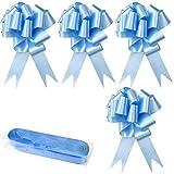 YapitHome 30 Piezas Lazos Regalos Grandes Lazos Grandes Azul Lazos Decorativos, para Decoración de Navidad, Boda, Fiesta, Día de San Valentín y Lazo de Regalo de Cumpleaños (Azul)