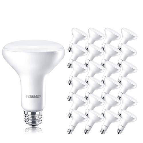 EVEREADY Led Flood Light Bulbs, BR30, 65 Watts Equivalent (10W Led Bulb), 850 Lumen, 2700K Soft White Color, Dimmable, E26 Base Flood Lights for Recessed Cans, Energy Star and UL Certified – 24 Pack