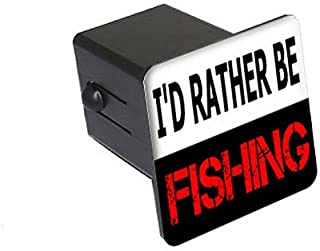 Graphics and More Carved Fly Fishing Trout Rod Reel Tow Trailer Hitch Cover Plug Insert