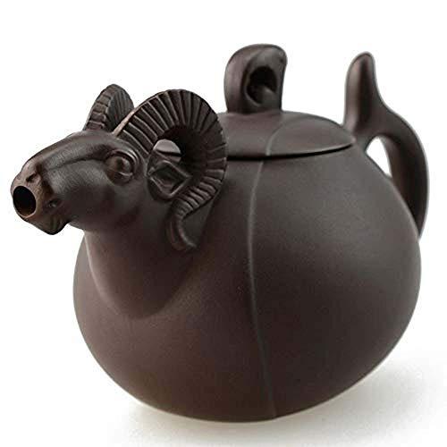 Wanjia Keramik Teekanne Lila Ton Teekanne Chinese Zodiac Drinkware Kung Fu Tools Schafe Zisha Teekanne Set Tee-Sets Teezeremonie Geschenk