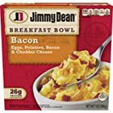 Eight 7 oz. breakfast bowl Features crispy bacon, fluffy eggs, homestyle potatoes, and real cheddar cheese Simply microwave and serve for a delicious breakfast at home or on-the-go Excellent source of protein - 28 grams per serving Ready in minutes a...