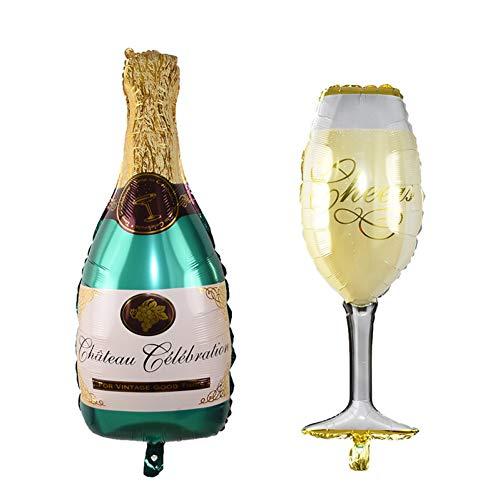 WZRQQ Ballon 1 Stücke Hochzeitstag Party Folienballons Champagnerflasche/Bier Tasse/Geburtstagstorte Ballons Hochzeit Dekorationen Geburtstagsfeier