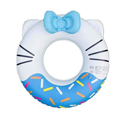 Schwimmring für Baby Schwimmsitz KT Katzen Kinderschwimmring Aufblasbares Pool Wasserspielzeug Sommer Spaß für Kinder 3-15 Jahre altes PVC (Blau,#50)