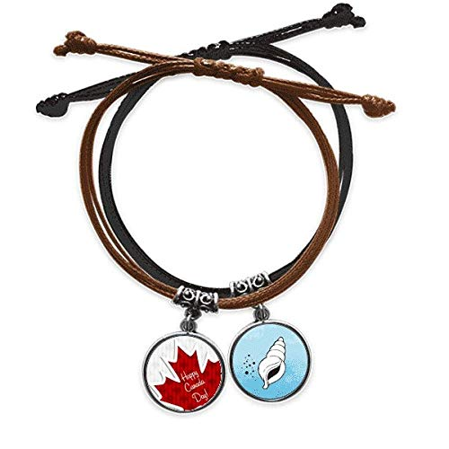 DIYthinker - Pulsera de cuerda, diseño de la buena fiesta del Canadá, 4 de julio