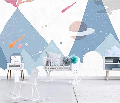 Karton Dinosaurier Tapete Star Vulkan Wandbild 3D Kinderzimmer Wandverkleidungen für Wände Wandbilder 3D Tapete Hd Kontaktpapier 430cm × 300cm