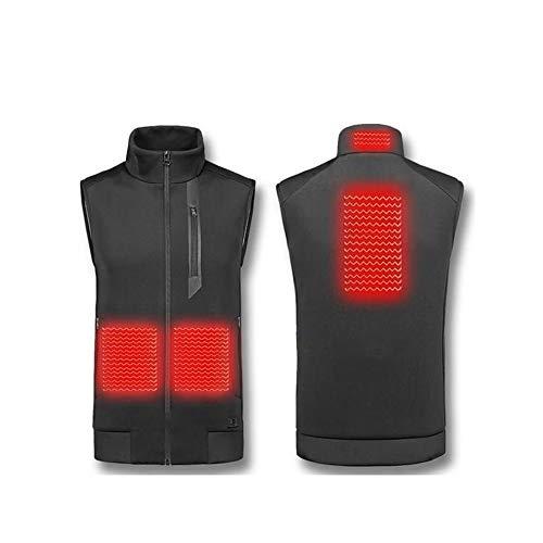 Elektrische Beheizte Weste Damen Herren 3 Temperatur Waschbar Körperwärmer Wrap Jacket USB Aufladbare Heizung Körperwärmer Gilet Kälte Outdoor-Aktivitäten,XXL