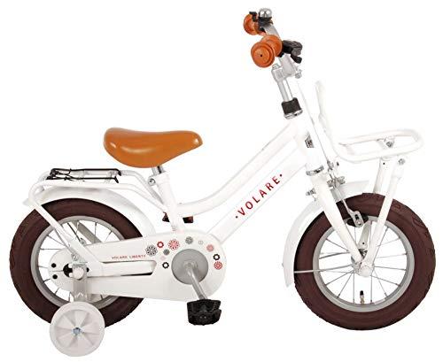 Bici Bicicletta Bambina 12 Pollici Volare Liberty con Ruotine Rimovibili Bianco 95% Assemblata