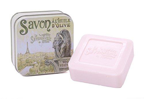 La Savonnerie de Nyons Savon Boîte en métal Paris 3 Gargoyle-100 grammes, Multi/Couleur, Taille Unique