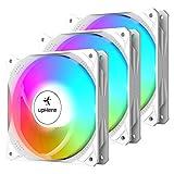 upHere Ventilador de 4 pines PWM de 120 mm LED arcoíris para PC, ventilador silencioso de alto rendimiento para refrigeración PC, NT12CF4-3