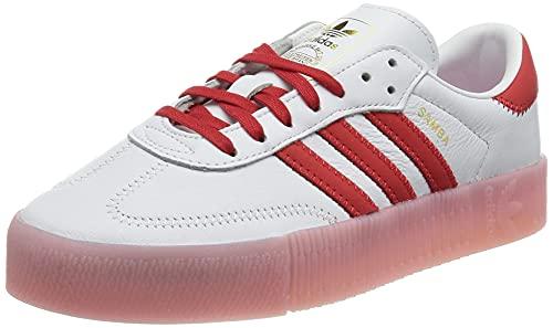 adidas SAMBAROSE W, Zapatillas Deportivas Mujer, FTWR White Vivid Red True Pink, 41 1/3 EU