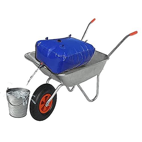 Contenedor Portador De Agua De Gran Capacidad Para Exteriores, Bolsa De Almacenamiento De Agua Flexible Resistente Al Desgaste Con Válvula De Encendido ( Color : Blue , Size : 765L/1.7x0.9x0.5M )