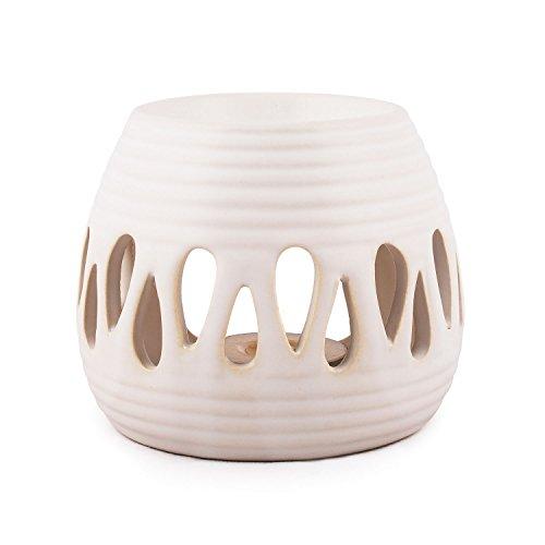 pajoma Keramik Duftlampe ''Simple'' in weiß, Höhe 8 cm