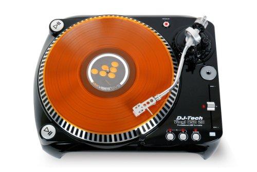 DJ-Tech Vinyl USB 10V2  Riemengetriebener USB-Plattenspieler schwarz