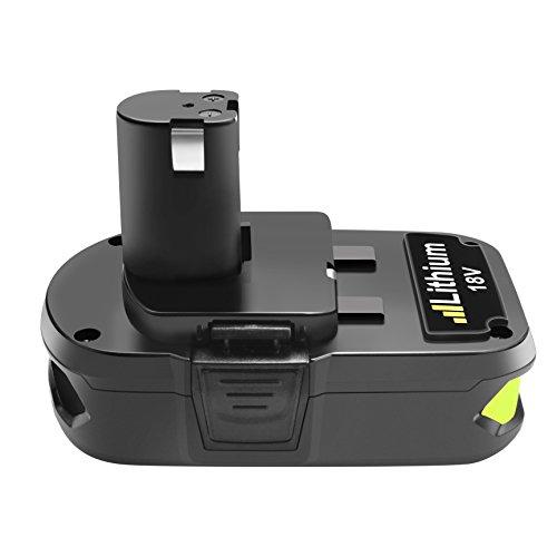 Powtree 3000mAh Ryobi 18V Lithium Battery Pack Replacement for Ryobi 18-Volt ONE+ P104 P105 P102 P103 P107 P108 Cordless Tools Battery