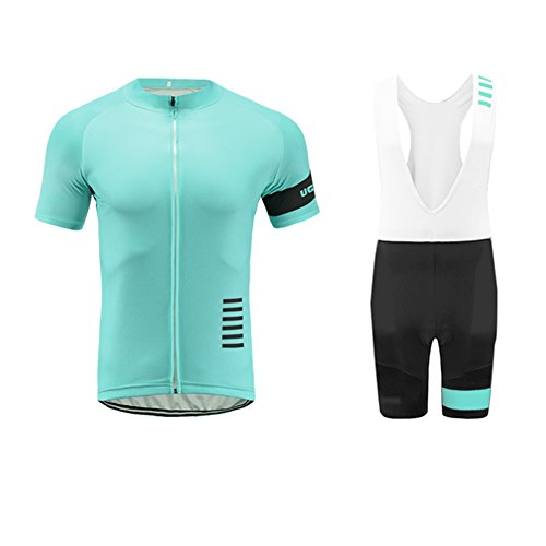 Uglyfrog 2019-2020 Neue Radsport Anzüge Herren Short Trikots+Bib Kurze Hosen Gel Pad Summer Cycling Kit Triathlon Clothes DESAZ03