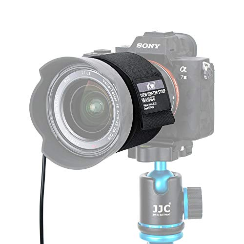 Calentador de lente de cámara de noche, removedor de rocío USB, compatible con Nikon Canon, Sony, Olympus Sigma Fujifilm Telescopios Prevención de condensación 4.3