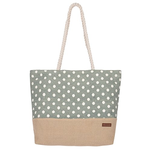 Urban Beach - Bolsa de lona y bolsa de mano, 49 cm, verde (Verde) - UBEAW30-06GN