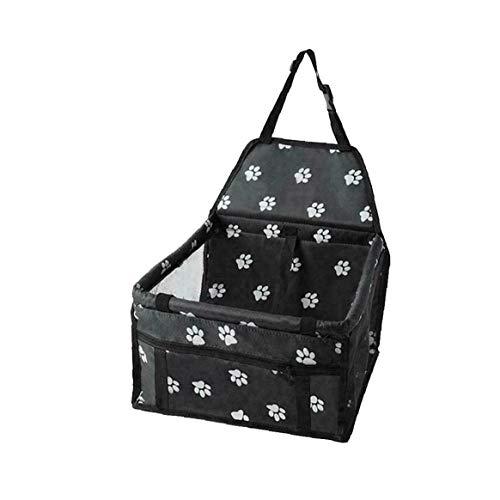 Rrunzfon 1 Pc Portátil Asiento Perro Asiento De Coche para Mascotas Elevador para El Automóvil con El Correo Clip-on De Seguridad Y Blanket para Pequeños Animales Domésticos Negro