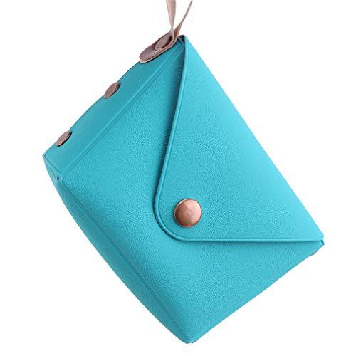 unknow Growrak Monedero lindo monedero bolsa cambiadora pequeña bolsa cosmética regalos para mujer llavero titular de llaves, azul marino