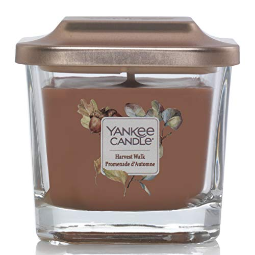 Yankee Candle Elevation Collection piattaforma con coperchio piccolo 3-wick Square Candle, raccolto Walk