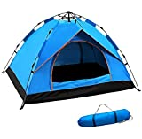 Tente de camping pour famille Tente Pop Up Tente portable Sole Refuges Tentes Backpacking...