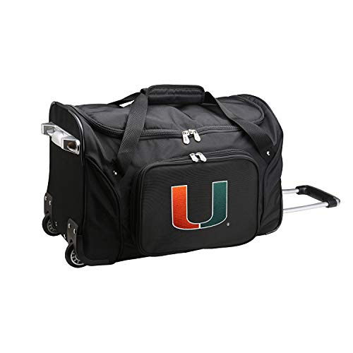NCAA Miami Hurricanes Wheeled Duffel Bag, 22-inches