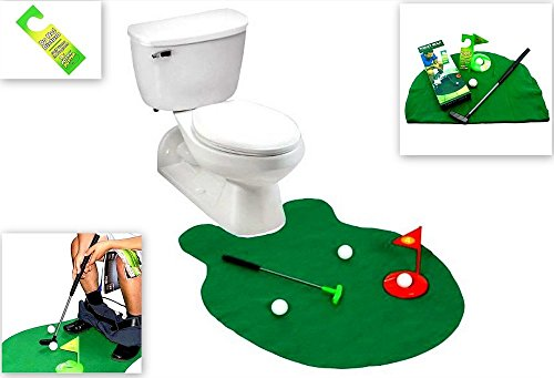 Toilet Golf, Golf Practice in the Bathroom with this Potty Putter, By Barwench Games (Golf)