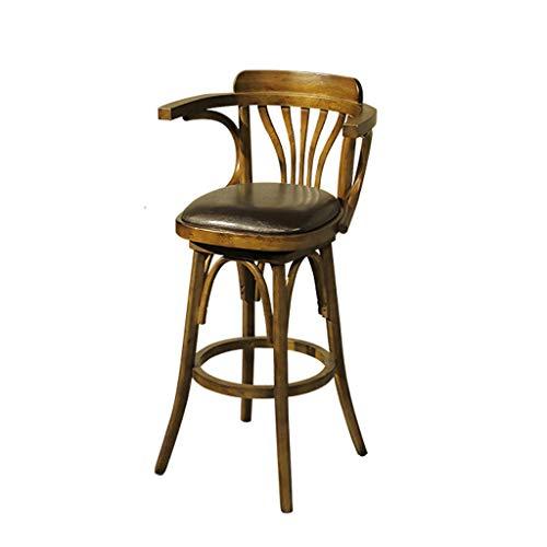 GCX - Tables et chaises de bar de style industriel et pivotantes, pour comptoir de bar américain rétro, chaise de salle à manger, bar à eau et café durable (dimensions : 40 x 40 x 104 cm)