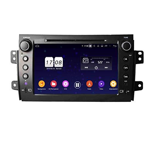 Android 9.0 Autoradio Navigazione GPS per Fiat Sedici(2006-2013), 8 Pollici Touchscreen Lettore DVD Radio Bluetooth