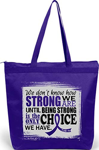 How Strong We Are Tote Bag 'The Darcey' in Purple for Pancreatic...